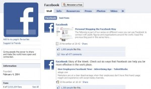 the Facebook Fan Page