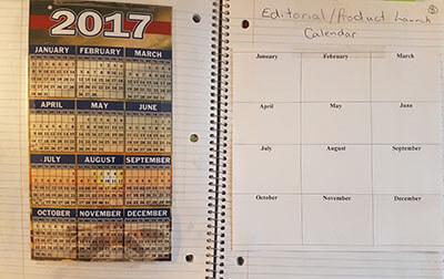Editorial Calendar - Bullet Journal