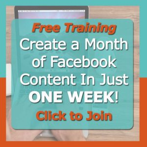 Create a Month of Facebook Content In Just ONE WEEK!