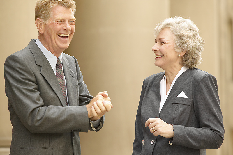 2 people talking jpg the baby boomer entrepreneur