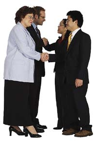business professionals networking