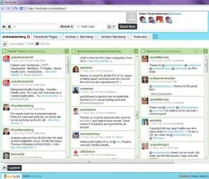Hootsuite for managing Twitter, Facebook, LinkedIn