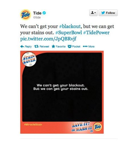 Tide did a brilliant job of news jacking the Super Bowl