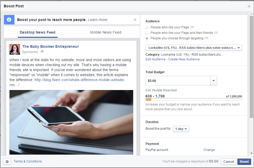 Is the Facebook Boost Post feature worth it