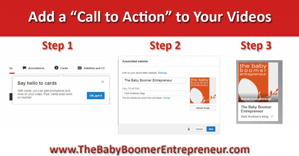 You can add Cards - call to action - to your YouTube videos